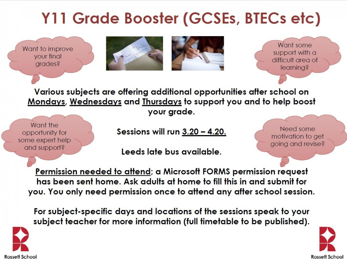 Grade booster poster
